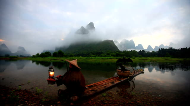 Fishermen on Li River,yangshuo,guilin