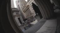 Fisheye Lens shot of New York City's Wall Street