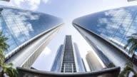 T/L WS ZI Fisheye View of Modern Skyscrapers / Abu Dhabi, UAE