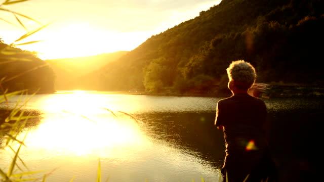 Fiske vid solnedgången