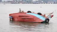 Fishing boat capsize.