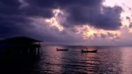 Fishing boat in sunrise, Thailand
