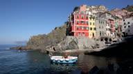 Fishing boat in the harbour of Riomaggiore, Cinque Terre