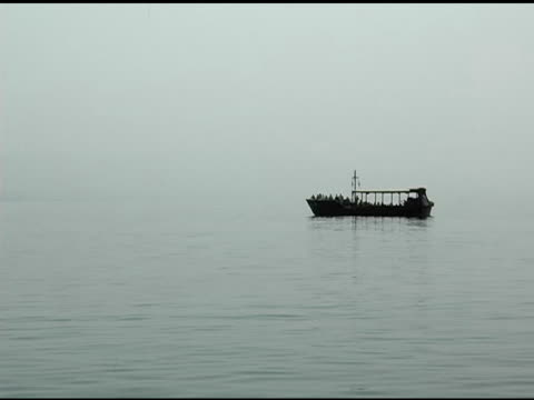Fishing Boat on Sea of Galilee in Israel