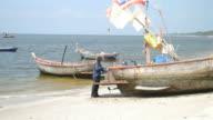 fishing boat slide shot.