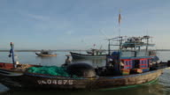 WS Fishing Boats Floating in Water / Vietnam