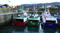 Fishing boats in Llanes Port
