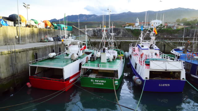 Fishing boats in Llanes Port