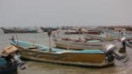 Fishing boats on the coast of Hodeida Yemen