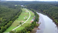 Fishing Lodges On the White River  - Aerial View - Arkansas, Baxter County, United States