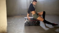 Fit dancing girl