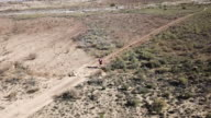 Fit nan running in the barren landscape of the Cederberg Mountains