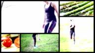 fitness donna schermo suddiviso