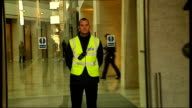 Five animal rights activists jailed for intimidation of staff at Huntingdon Life Sciences London Animal rights protester dressed in animal costume...