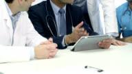 Five doctors in meeting