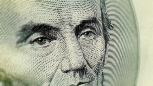 Five Dollar Bill Macro Close-up Pan