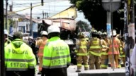 Five people were killed and 17 injured in Bogot‡ Tuesday when a bomb exploded in a bustling intersection of the Colombian capital filled with foot...
