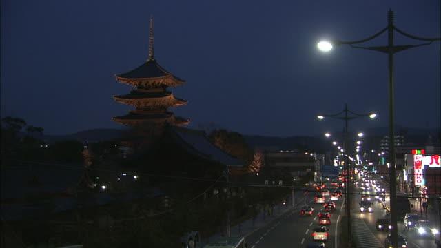 Five Story Pagoda At Night