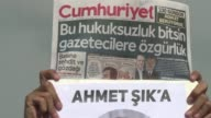 Fives staff members of the opposition daily Cumhuriyet are in court for their latest hearing
