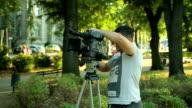 Festlegung der Kamera auf einem Stativ