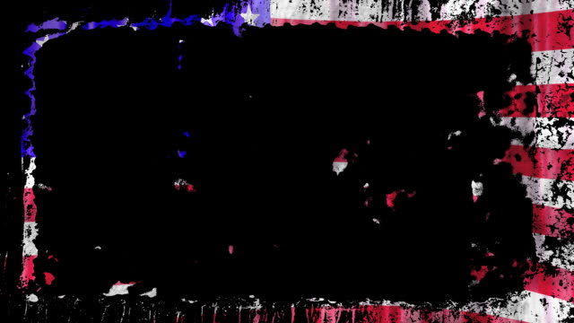 US flag grunge frame