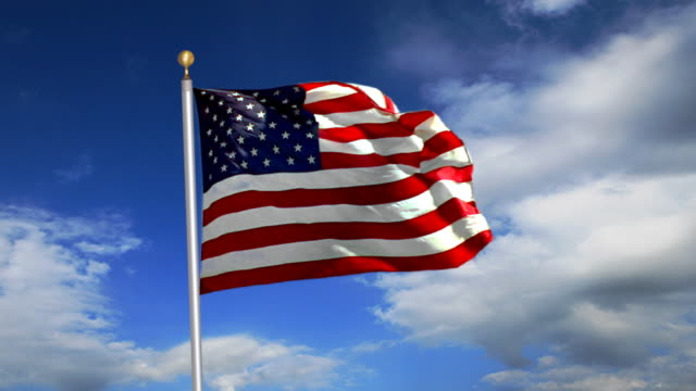 US-Flagge. HD-Progressive Frames
