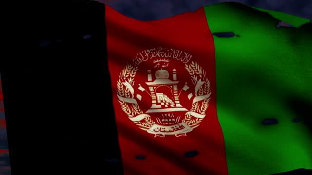 Flagge von Afghanistan-Krieg