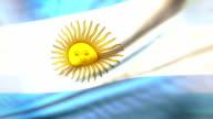 Flag of Argentina loopable Bandera de Argentina
