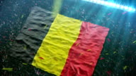 Flag of Belgium at the stadium