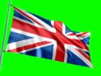 Flag of England on Chroma-Key