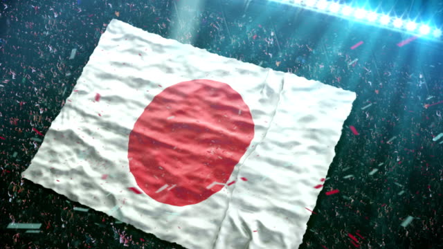 Flag of Japan at the stadium