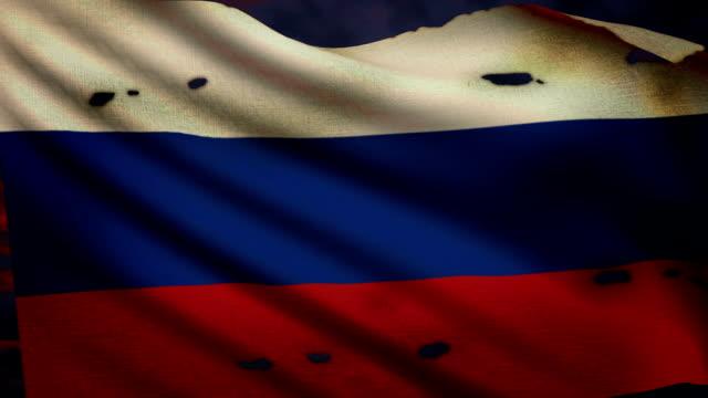 Bandiera della Russia, conflitto