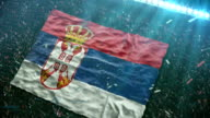 Flag of Serbia at the stadium