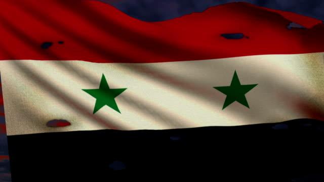 Flagge von Syrien, Konflikten