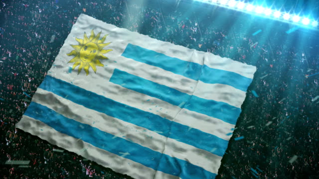 Flag of  Uruguay at the stadium