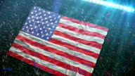 Flag of USA at the stadium