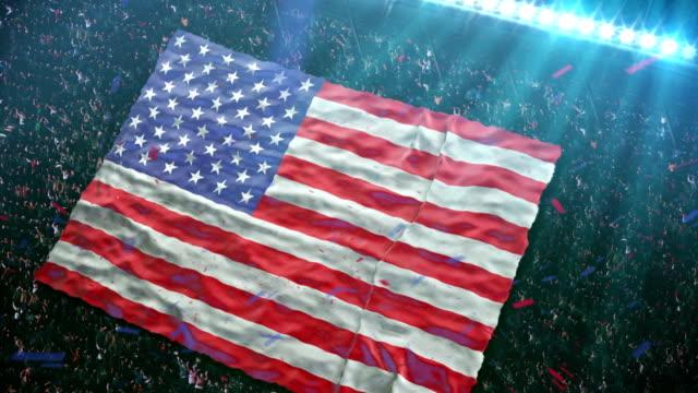 Flag of USA at the stadium