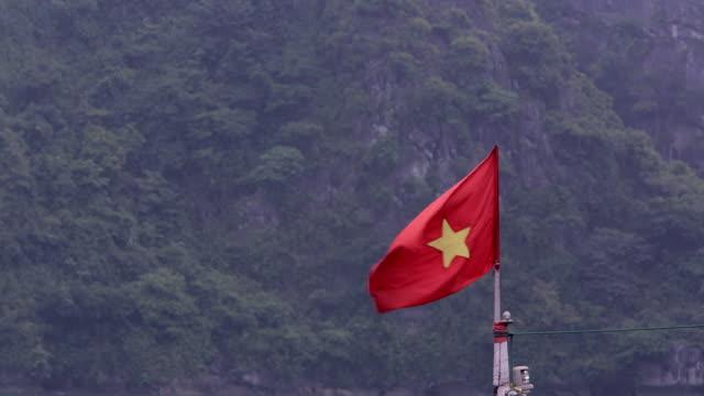 MS PAN Flag on boat in Ha Long Bay / Vietnam
