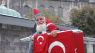 Flag seller in Istanbul