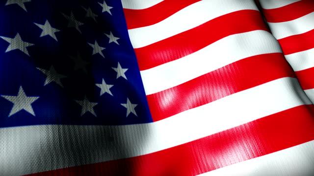 USA Flag waving, looping
