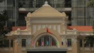 MH LD Flags Waving on National Treasury Building / Vietnam