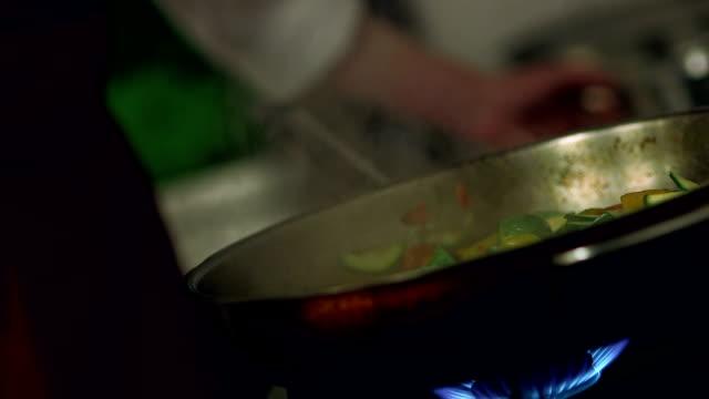 Flambe Veggies