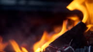 Flaming coal - Stock Footage