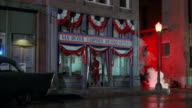 MS Flash character entering in van duzer campaign headquarters building