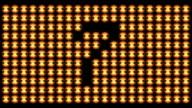 HD LOOP: Flashing Countdown Board