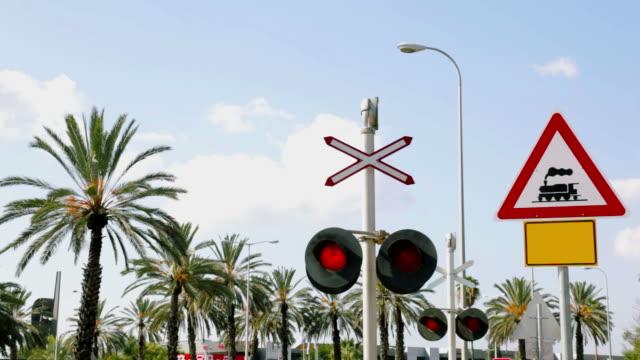 Flashing Railroad Signal. Sound