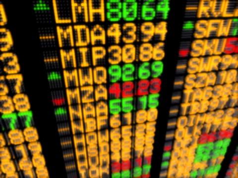 Flashing trade information on LED display