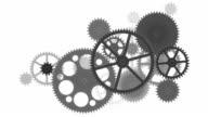 Flat gears. White version. Loop.