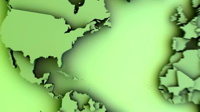 Mondo mappa piatta