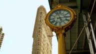 Flatiron building and clock, Manhattan, New York